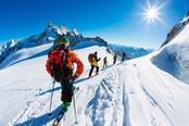 sciare sul monte bianco