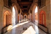 Vista interna di un palazzo tipico di Muscat