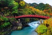 ponte rosso cascate di kegon