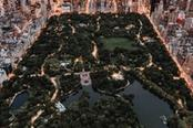 Vista panoramica sulla città di New York di notte