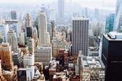 Vista dall'alto dei grattacieli di New York