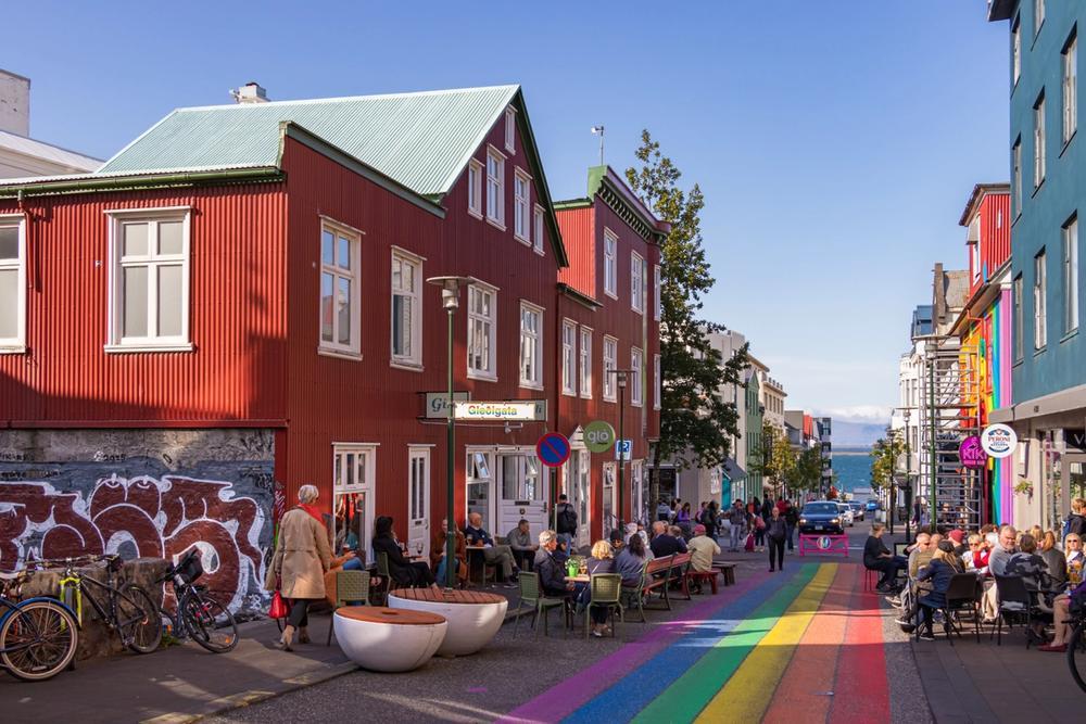 strada arcobaleno reykjavik