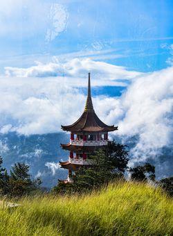 tempio nel cielo malesia