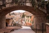Gradinata per le vie di Perugia
