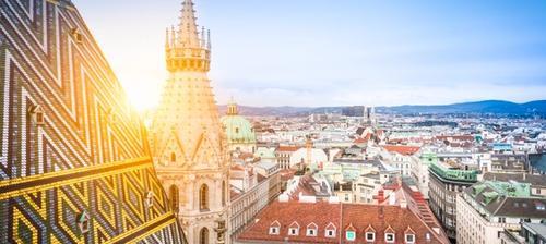 panorama dal tetto della cattedrale di santo stefano a vienna