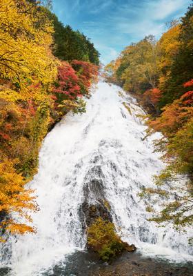 cascate di nikko in autunno