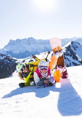 snowboard in austria