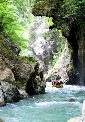 rafting nel canyon del lao in calabria