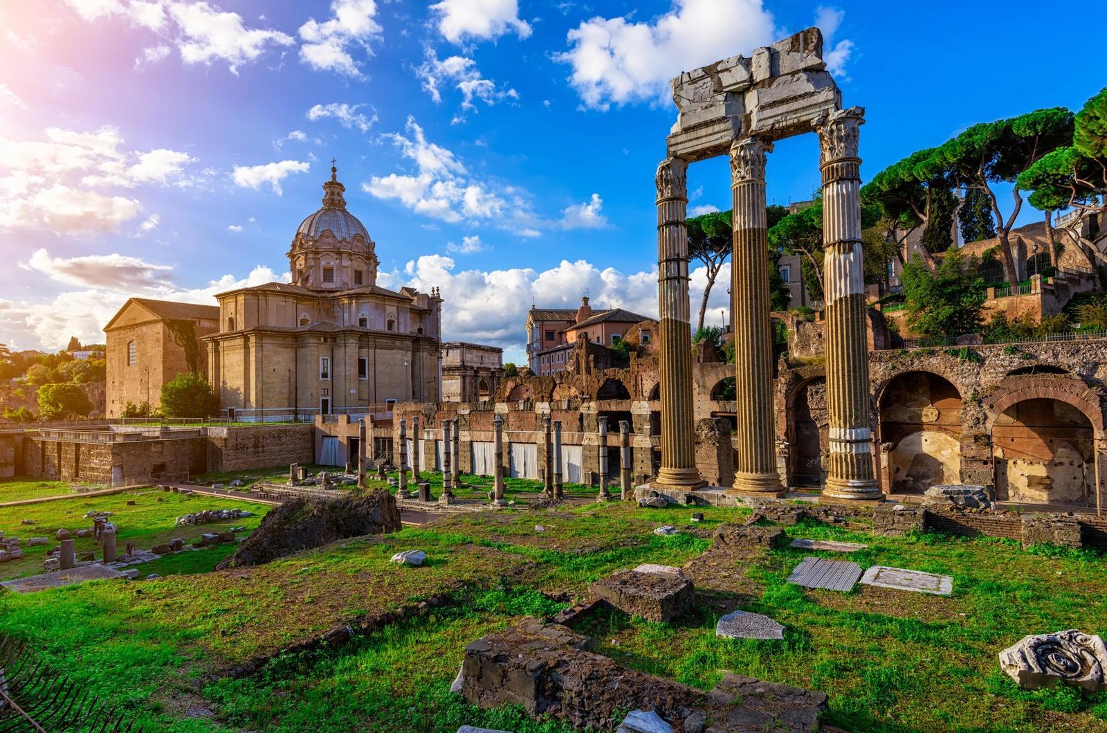 vista panoramica sui fori romani