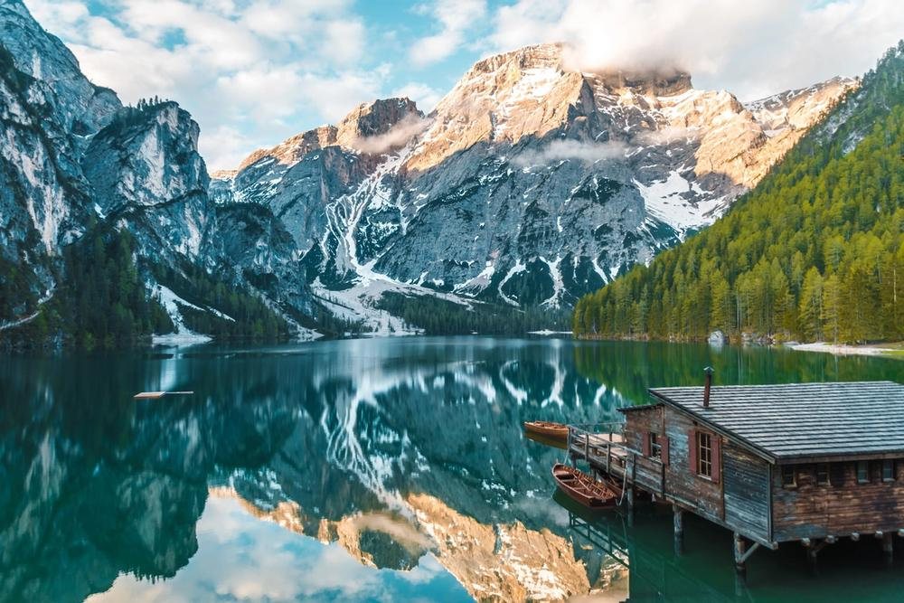 lago di braies in trentino