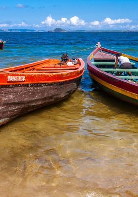 barche sulla spiaggia di ramena