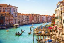 vista panoramica sui canali di venezia