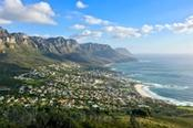Vista panoramica su Cape Town