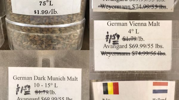 ingredients for the octoberfest
