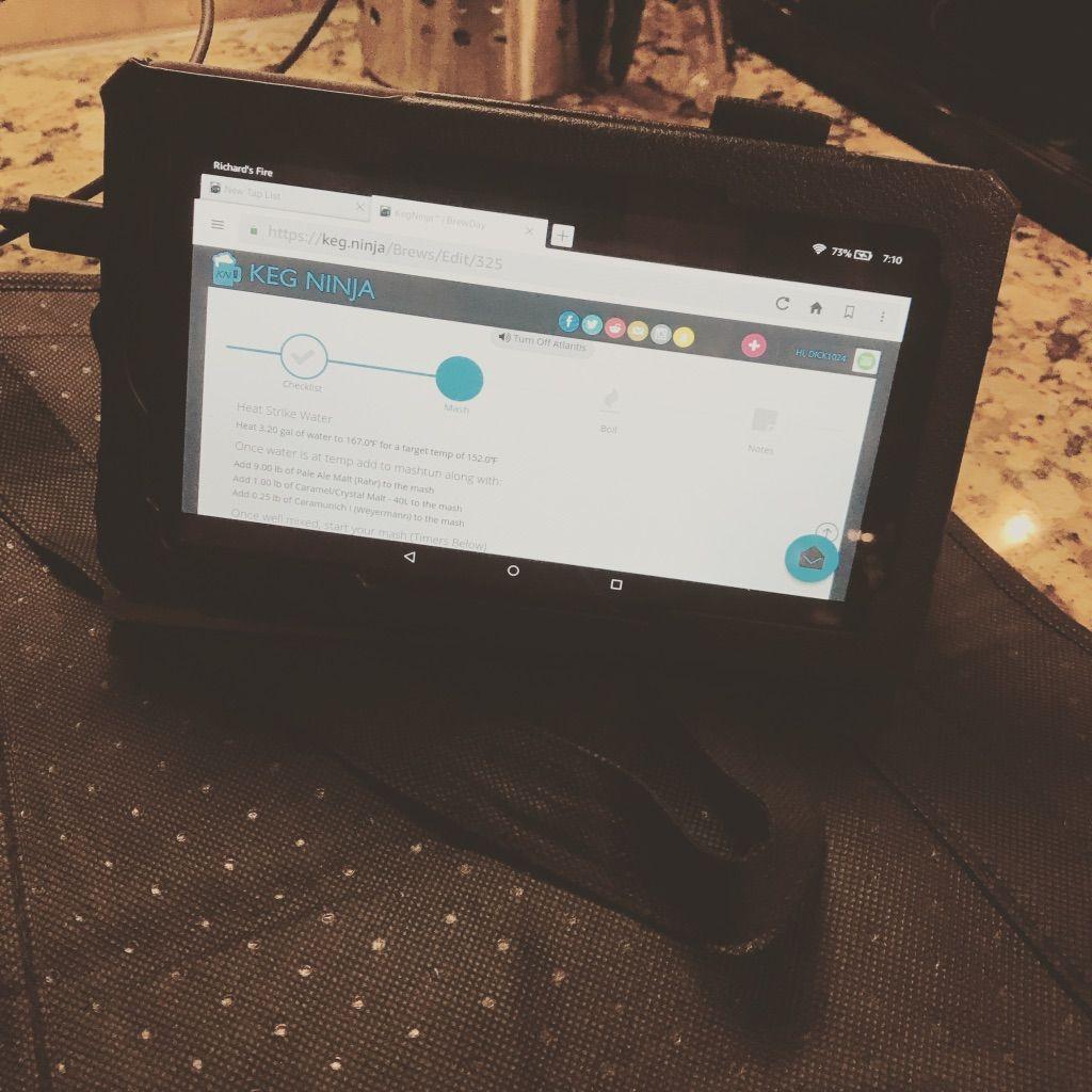 tablet with keg minder