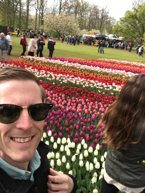 richard and tulips