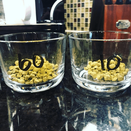 Hop additions in pre measured containers