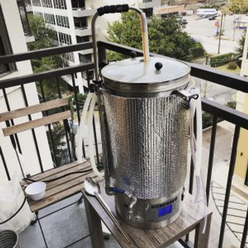brewing system on the balcony