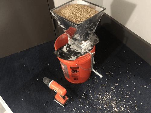 grain in a grain mill