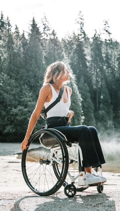 woman in wheelchair contemplating nature