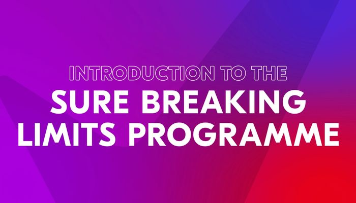"""Video cover image with text """"Introduction to the Sure breaking limits programme"""""""