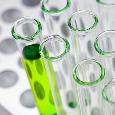 Test tubes with clean ingredients