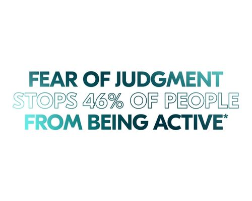 Fear of judgment stops 46% of people from being active