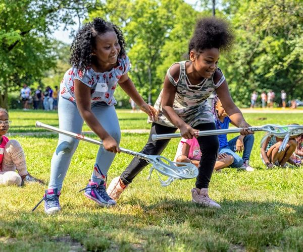 girls playing, helping to break barriers