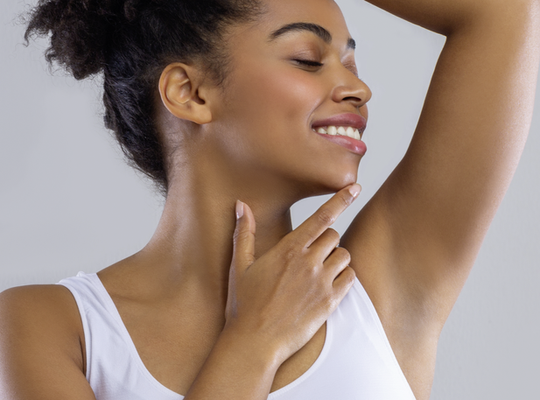 woman showing her underarm - Degree