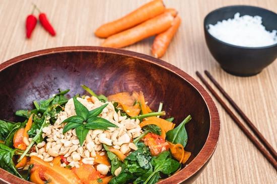 Asiatisk papayasalat