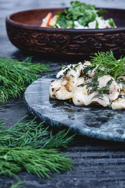 Foliebagt fisk i smør