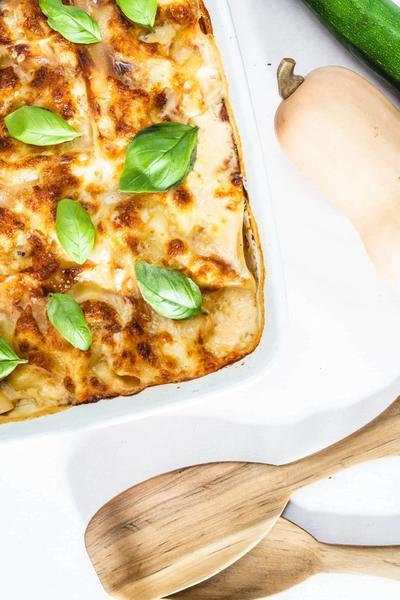 Vegetar lasagne med squash