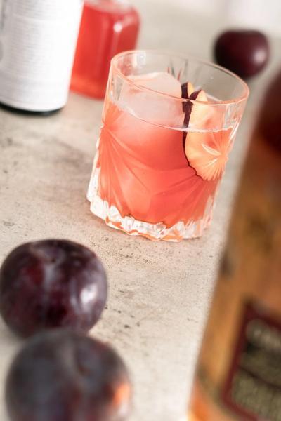 Plum Rum Cocktail