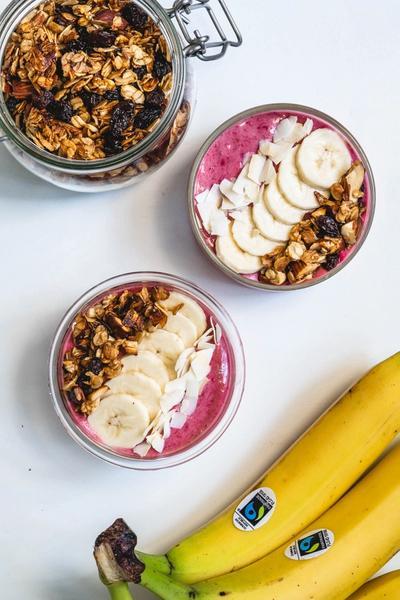 Smoothie bowl m. banan