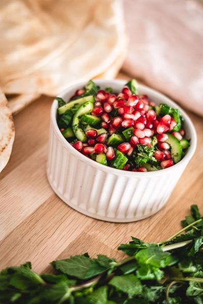 Agurk og mynte salat