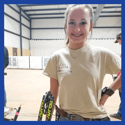 @ashtyn_archery: Throwback to last weeks practice dialing in my awesome elite!