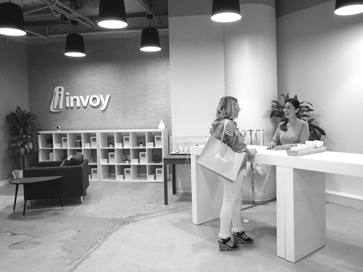 Inside Invoy office and showroom