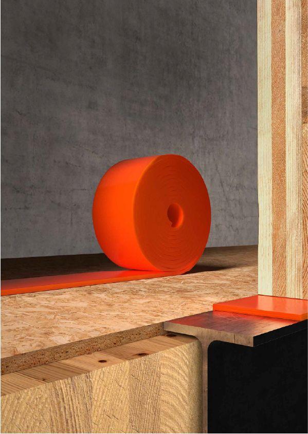 Orange sound proofing roll