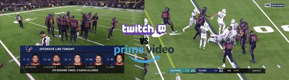 Streaming video teardown: Twitch vs. Amazon Prime for Thursday Night Football