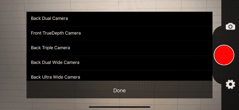 iLive camera selection