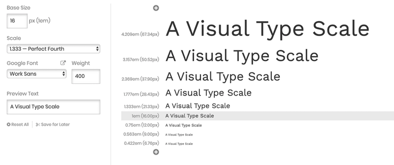 visual type scale example