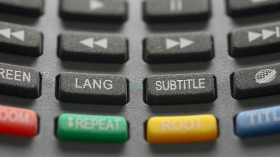 TV Remote with Lang and Subtitle Buttons