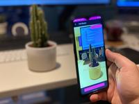 A photo of an Android phone live streaming a cactus.