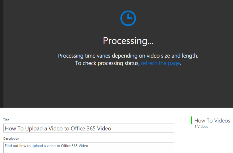 video processing