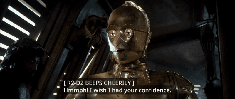 Closed captions r2d2