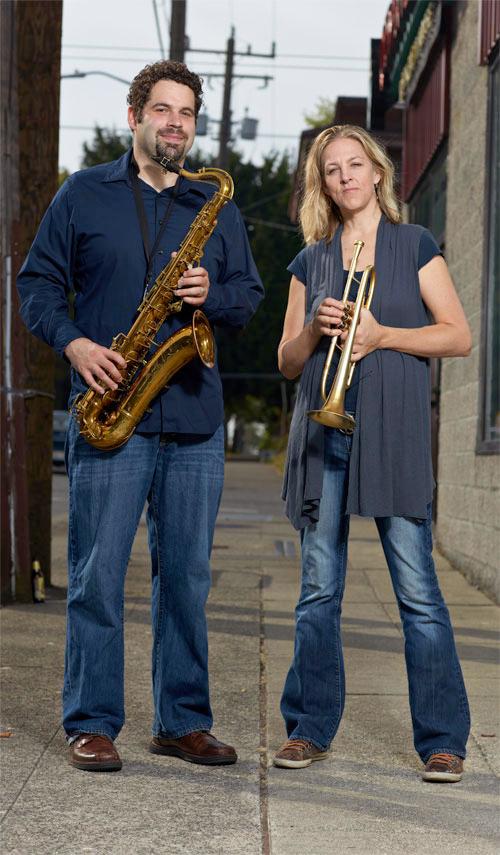 Steve Treseler and Ingrid Jensen (Steve Korn)