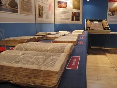 Exhibit of old Bibles