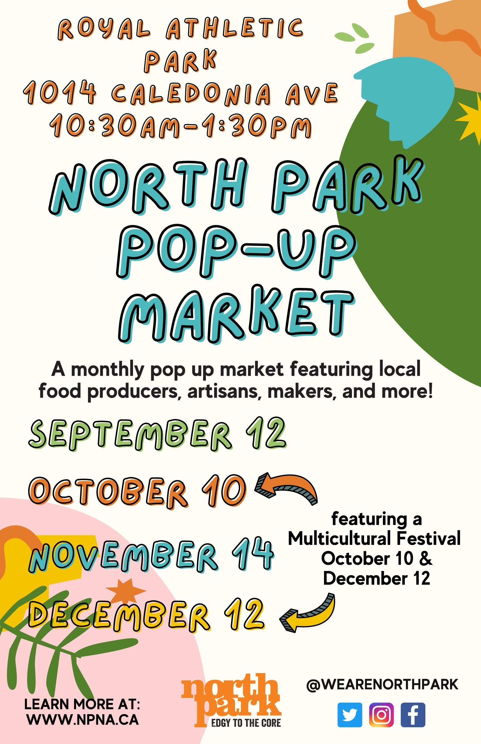 Sept-Dec 2021 Pop Up Market