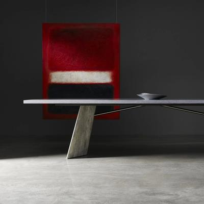 Tryg conference table in gray and light wood