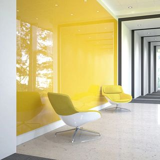 Yellow Wall2Wall with chairs